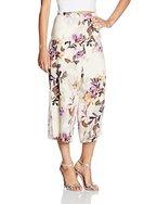 VERO MODA Damen Hose Vmwanda Wide Culottes E10, Mehrfarbig (Antique White Aop:Japan Flower Purple), 38 (Herstellergröße: M)