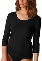 "Mey Basics ""Soft Shape"" Damen Shirts 3/4 Arm Schwarz 42"