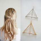 ANKKO 1 Stück hohle Dreieck geometrische Metall Haarspange Haarnadeln Haar Clip (Gold)