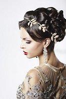 Elastisches Haarband Haarkette Stirnband Stirnschmuck Haar Kopfschmuck in Gold von der Marke MyBeautyworld24