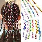 Sasairy Frauen Mädchen Packung mit 12 Stück bunte Haar Torsion Haar Verpackungs Zubehör