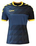 Hummel Jungen T-Shirt Liga Jersey, Vintage Indigo/Sports Yellow, 164 - 176, 03-668-8725