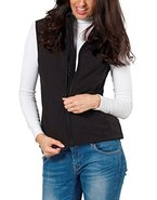 Damen Softshell-Weste Windbreaker von Fifty Five - Kanara schwarz52 - mit FIVE-TEX Membrane für Outdoor-Bekleidung
