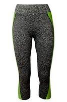 Libella Damen Sporthose Luafhose Yoga 3/4 Leggings Fitness 4120 Grün S/M