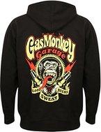 Gas Monkey Garage Hoodie Sparkplugs Zip Black-XXL