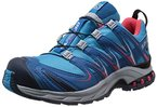 Salomon XA Pro 3D GTX, Damen Trekking- & Wanderhalbschuhe, Blau (Boss Blue/Darkness Blue/Papaya-B), 36 2/3 EU (4 Damen UK)