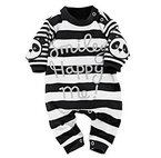 Covermason Neugeborene Baby Jungen Mädchen Strampler Romper Jumpsuit Overall (70 (0-6 Monate), Schwarz)
