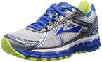 Brooks Adrenaline GTS 15, Damen Laufschuhe, Grau (White/DazzlingBlue/SharpGreen), 39 EU (6 Damen UK)