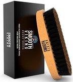 Bartbuerste für Herren - Bester Gesichtshaar-Kamm für die Pflege und das Styling eines Bartes - Mit Wildschweinborsten für einfache Pflege - Verteilt Produkte und natürliche Wachse - Smooth Viking