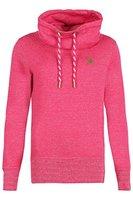 """PLATINUM ANCHOR """"MAKENA"""" Damen-Sweat-Shirt - Stehkragen (Mocksweat) - Langarm-Shirt - Casual - mit Tasche seitlicher Eingriff - Oberteil - TOP-Qualität (L, Berry Melange)"""