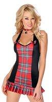 Damen Schulmädchen Neckholder-Kleid, outfit einheitliche Junggesellinnenabschied, Halloween-Kostüm, Gr. 10/12 (DE)