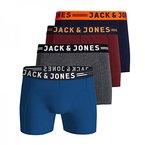 JACK & JONES Herren Boxershorts Jaclichfield Trunks 3 Pack, 3er, Farbe:4er Pack;Größe:M