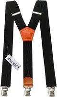 Hosenträger für Herren breit extra starken 4 cm mit 3er Clips Y-Form lange für Männer und Damen Hose alle Farben (Schwarz 2)