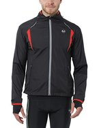 Ultrasport Herren Running-/Bikingjacke Stretch Delight, Schwarz/Rot, XL, 40023