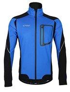 iCreat Herren Jacke Air Jacket Winddichte Wasserdichte Lauf- Fahrradjacke MTB Jacket Visible reflektierend, Fleece Warm Jacket für Herbst, Blau Gr.M
