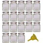 Viva-Haushaltswaren - 18 kleine Marmeladengläser / Gewürzgläser 106ml mit silber-farbenem Deckel