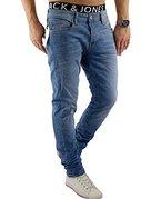 JACK & JONES Herren Jeans jjiTIM 085 Used Look Blue Denim Elasthan Slim Fit (32W / 32L, Blau (Blue Denim Fit:SLIM jjiTIM 078))