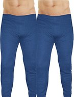 Herren Thermounterhose 2er Pack Blau Winter Leggings Größe L