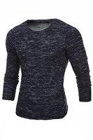Merish Pullover Herren Strickpullover Slim-Fit Roundneck Hoodie Shirt Sweatshirt Modell 306 Anthrazit S