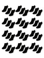 20 Paar Comfort Sneaker Socken - Schwarz - Damen & Herren - 40-46 - Naft