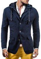 EXTREME 120 Dunkelblau L [4D4] Herrensakko Sakko Sweatshirt Sweatjacke Trench Hoodie Slim Fit