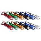 S/O® 12er Pack Schlüsselanhänger Taschenlampe 6cm Alu mit Karabiner Mini LED-Taschenlampe Lampe
