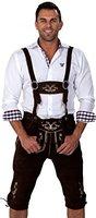 Almwerk Herren Trachten Lederhose Kniebund Modell Hipster, Farbe:Schwarz;Lederhose Größe Herren:52