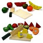 Food Holzspielzeug Schneiden Food Set Pretend Essen Schneiden Hölzerne spielen Lebensmittel Sets For Kids von NimNik