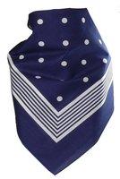 Bandana mit Punkten in reiner Baumwolle!, Farben:blau