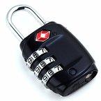 DonDon Reiseschloss TSA Travel Sentry Approved Gepäckschloss schwarz
