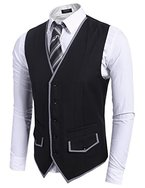 COOFANDY Herren Anzugweste slim fit Weste stilvolle Herrenweste Hochzeit Fest Business casual Herrenmode