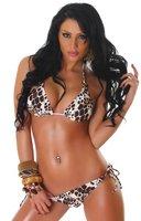 Triangel-Bikini im Leo-Design, leo Größe 36 38