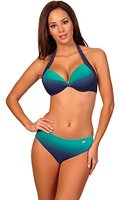 aQuarilla Damen Bikini Set Barbados (Navy/Minze, 40)