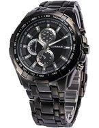 AMPM24 Herren Uhr Analog Quarzuhr Edelstahl schwarz Armbanduhr + AMPM24 Geschenkbox
