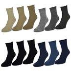 sockenkauf24 Herren Kurzschaft Socken 6 oder 12 Paar versch. Farben - 32029 (43-46, 6 Paar | Schwarz)