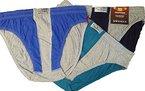 3 er Pack Herrenslip, Herrenschlüpfer, Unterhosen, grau/blau/grün/schwarz melange Töne, Art.520, -ÖKO Tex Standard 100, Textiles Vertrauen- (13, grau/blau/grün melange Töne )