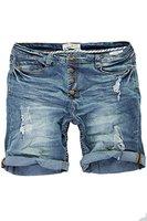 Jeans Kurze Hose Herren Shorts Bermuda Sommer Capri Joggjeans Vintage Denim Blau W29-W38 (W31)