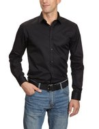 JACK & JONES PREMIUM Herren Hemd mit Manschetten Slim Fit 12020857 Andrew Shirt L/S Tight Fit, Gr. 50 (M), Schwarz (BLACK)