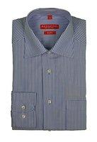 Redmond - Bügelfreies Herren Langarm Hemd gestreift, Stil: Regular Fit (510100), Größe:41/42(L);Farbe:Blau(13)