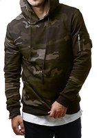 EightyFive Herren Camouflage Hoodie Kapuzenpullover Sweater Grün Grau Grey Camo EF1002, Größe:L, Farbe:Camouflage