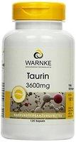Warnke Gesundheitsprodukte Taurin 3600 mg Tagesportion, 120 Kapseln, 1er Pack (1 x 124 g)