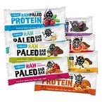 Maxsport Nutrition Roh Paleo Rohkost Riegel alle sorten 8 x 50g - Roh Paleo Protein Riegel Vegan Glutenfrei Rohkost Energie Riegel