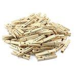 COM-FOUR 100 Wäscheklammern aus Holz (100 Stück)