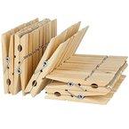 50x Wäscheklammern aus Holz Braun 7 cm Starke Federn für die alltägliche Wäsche Wäscheklammern aus Holz 50x, Starke Metall-Federn für die alltägliche Wäsche, Holz Wäscheklammern zum Basteln und Bemalen
