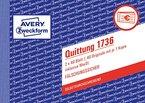 Avery Zweckform 1736 Quittung (A6 quer, inkl. MwSt., 2x40 Blatt) weiß/gelb