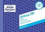 Avery Zweckform 300 Quittung inkl. MwSt. (A6 quer, mit 1 Blatt Blaupapier, 50 Blatt) weiß