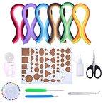 Outus Papier Quilling Set Verschiedene Farben mit 9 Quilling Werkzeuge and 30 Farben 600 Streifen Quilling Papier