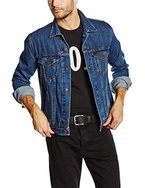 Levi's Herren Jacke The Trucker, Medium, Blau (Dark Stonewash)