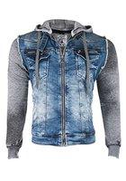 Cipo & Baxx Herren Bikerjacke Sweatshirt CJ-101 (XXL)