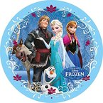 Tortenaufleger Disney Frozen N4 - Elsa, Anna und Freunde, Eiskönigin, 21 cm
